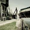 La chance, des fois... (woltarise) Tags: lachine canal pont train aiguillage centre bâtiment ancien patrimoine cycliste piste cyclable couleurs ricohgr montréal