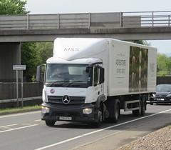 Gist Logistics BT66 PXH at Welshpool (Joshhowells27) Tags: lorry truck gist mercedes mercedesbenz actros ms refrigerated supermarket