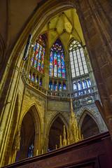 St. Vitus Cathedral, Prague (sval92) Tags: prague europe cathedral window reflection gold lighting architecture travel nikon d5300 photo photographer nave sanctuary czech republic travelling pillar column