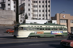 US CA San Francisco MUNI PCC 1138 10-1973 (David Pirmann) Tags: california sanfrancisco muni tram trolley streetcar transit railroad transportation pcc