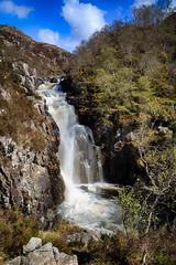 Falls of Kirkaig (greenzowie) Tags: greenzowie 2018 april waterfall falls kirkaig landscape tree rock sky water scotland
