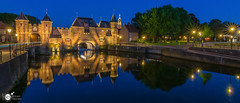 Koppelpoort  pano II (Robert Stienstra Photography) Tags: koppelpoort amersfoort cityscape cityscapes bluehour bluehourphotography nightscapes nightshots nightphotography nightscene cityscapephotography reflections reflection reflecting longexposure longexposurephotography architecture medieval medievalarchitecture panorama panoramic waterscape waterscapes waterfront touristic travel travelling touristattraction