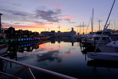 viaduct sunset (Shawn Sijnstra) Tags: viaduct harbour viaductharbour sunset colours reflection water boats auckland newzealand
