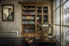 BCLM Tobacconist (Darwinsgift) Tags: black country living museum voigtlander 20mm f35 color skopar sl ii tobacconist shop hdr advert poster scales weighing sign cigarettes