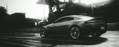 Not Quite Most Wanted... (polyneutron) Tags: photography astonmartin v12 vantage silver sport mostwanted nfs needforspeed pc motion monochrome
