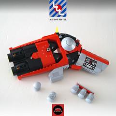 LLL - M:Tron service pistol - DA3 (Brixnspace) Tags: lego moc gun pistol plasma mtron pew da3 decisive action ammo lll