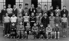 Class photo (theirhistory) Tags: children kids boys school class group form slate jacket jumper trousers shoes wellies boots