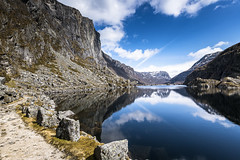 Hiavatnet (Ornaim) Tags: norway norge lake mountain snow nature rogaland ryfylke hiavtanet viglesdal viglesdalen landscape reflections cloud blue sky nikon d850 lee filter scandinavia spring