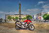 Liverpool (Andy Tee) Tags: honda motorbike motorcycle liverpool city center capital of culture hdr summer sun evening