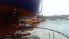Two SARs below Nordic's stern (Jan Egil Kristiansen) Tags: imag3022 mest tórshavn shipyard ship nordic sandrakim imo6609884 faroeislands oljelense oilboom rescuelív sverri sar draftmarks 11109 propeller stern