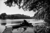 Open your mind (gambajo) Tags: 1year1town1lens brühl blackandwhite blackwhite black white public outdoors street streetphotography people man person lake water trees nature reading alone see mann natur lesen rest resting relax relaxation relaxing