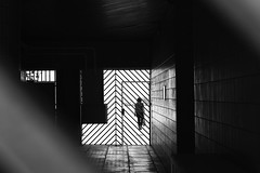 Beyond bars (pascalcolin1) Tags: paris13 femme woman barreaux bars lumière light ombres shadows reflets reflection photoderue streetview urbanarte noiretblanc blackandwhite photopascalcolin 50mm canon50mm canon