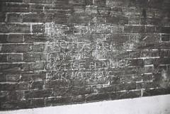 Juwes Message (goodfella2459) Tags: nikon f4 af nikkor 50mm f14d lens ilford delta 400 35mm blackandwhite film analog night gunthorpe street whitechapel east end jack ripper crime history london bwfp chalk message graffiti