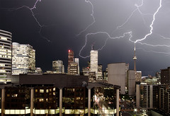 lightning (wvs) Tags: toronto storm night downtown cntower lightning wvs ddoi topf400 p1f1