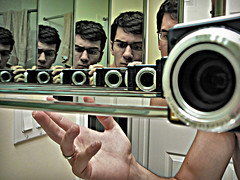(scottintheway) Tags: camera leica selfportrait green bathroom lumix mirror skin panasonic tz1