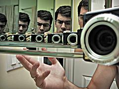(scottintheway) Tags: camera leica selfportrait green bathroom lumix mirror skin panasonic tz1