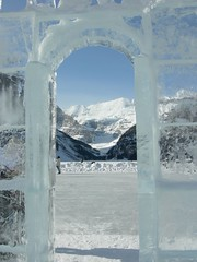 Ice Castle (mikethecoolbiker) Tags: sculpture lake canada ice louise february lakelouise icesculpture icesculpturesatlakelouise