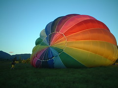Balloon inflation by grahammclellan on Flickr!