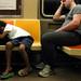 Subway Sleepers: 6 AM, Sunday Morning