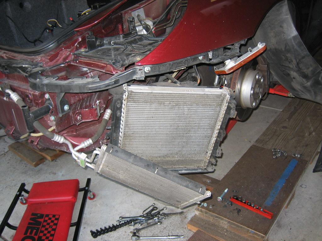 Boxster left side radiators