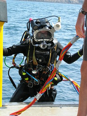 Full Fathom Five (Super tourist) Tags: archaeology jen underwater jenb documentary diving cannon diver islesofscilly archaeologist underwaterarchaeology commercialdiver fullfathomfive cannonsite