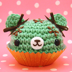 Amigurumi mint chocolate cupcake bear - by Amigurumi Kingdom