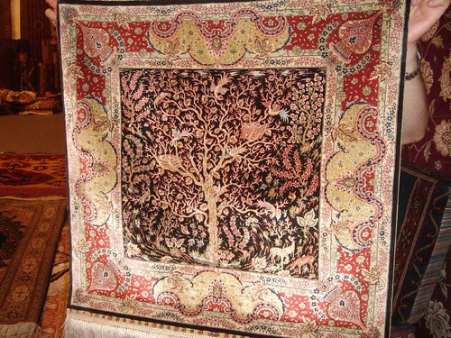 Silk rug - Tree of Life