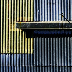 Hold it... (slowitdown) Tags: abstract lines metal composition contrast shapes textures foundart