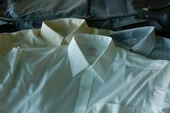 New dress shirts, ready to go. (drewsaunders) Tags: love sarah mi honeymoon shirts mackinacisland grandhotel