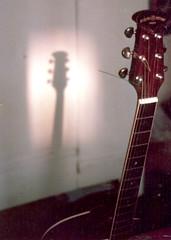 Suzuki acoustic guitar, Sunderland, U.K., circa 1984.