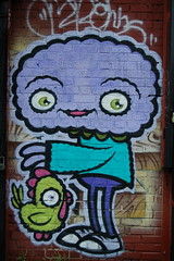 pet chicken (lowlight168) Tags: slr wet rain brooklyn d50 bedford graffiti interesting nikon ave lowlight168