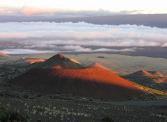 top of the pacific (fotogail) Tags: light sunset orange nature geotagged volcano hawaii scenery peak geology volcanic maunakea fotogail geo:lat=19811284 geo:lon=155462379 gail:williams=2006 ilobsterit