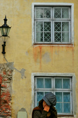 Sad Poem (Pensiero) Tags: windows woman girl hat wall tallinn estonia tears poem sad fingers tallin blselect