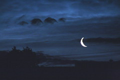 moonlight sonata (NickScando) Tags: blue silhouette night crescent v nighttime moonlight stave clef rhythm breves interval visualmusic narratives betweenthedays rhythmofnature naturesscore cloudsasnotes