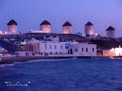 Mykonos - The twilight (*DaniGanz*) Tags: pink sea windmill port island evening interestingness twilight mare violet rosa explore greece porto grecia oldport chora cyclades mykonos mediterraneansea mulino mikonos sera isola 307 crepuscolo cicladi violetto helluva muliniavento marmediterraneo kyklades daniganz flickrsexplore vecchioporto