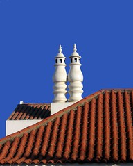 Chimneys from Portugal (Mnica (Monguinhas)) Tags: blue roof vacation chimney sky portugal nova azul de vila welcome holliday alentejo schornstein telhado chamin milfontes thisisportugal monguinhas