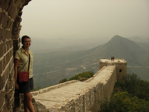 Sachi at the Great Wall of China, Simatai by you.