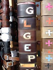 Almost Glerp (dogwelder) Tags: california venice leather letters 2006 september bracelets zurbulon6 zurbulon gatturphy glerp