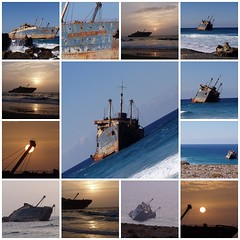 Different views of the American Star (Iveta) Tags: fdsflickrtoys mosaic fuerteventura atlantic wreck americanstar iveta wrack byiveta
