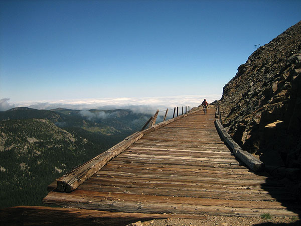 Riding the Corona Pass trestle