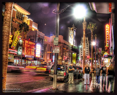 hollywood late night show (Kris Kros) Tags: show california ca street light usa motion tree public lamp car sign cali night speed photoshop truck evening la us moving losangeles dance swatch interestingness cool interesting nikon bravo shiny pix theater boulevard nightshot traffic post cs2 theatre you kodak walk parking think banner fame first bank pickup ps el can palm billboard virgin socal national american palmtree hollywood idol kris late nightlife meter hollywoodblvd walkoffame suv speeding hdr blvd americanidol megastore capitan firstnationalbank 50v5f photomatix soyouthinkyoucandance pscs2 kros kriskros 5xp kk2k abigfave hollywoodlatenightshow