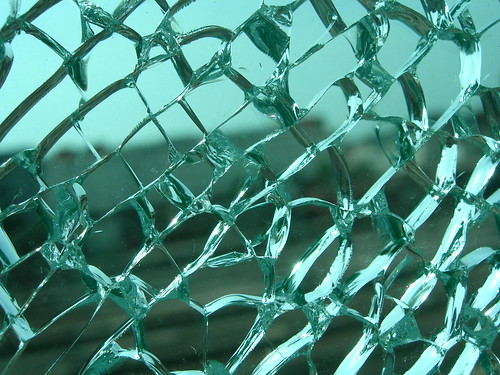 glass pane, shattered
