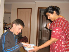 Kanchan being a good hostess (Princess_Fi) Tags: bollywood