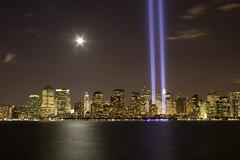 9.11.06 (kotobuki711) Tags: city ny newyork skyline night topf75 anniversary 911 nj explore neverforget libertystatepark tributeoflights p1f1