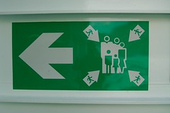 Sign on a norwegian ferry (_Marcel_) Tags: sign schild arrows arrow pfeile