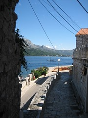 korcula sea view (jorge72) Tags: street city sea sun water town ancient honeymoon village croatia korcula adriatic adria hrvatska peljesac flitterwochen badja