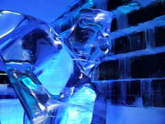 Blue Ice 2 (Stephanie Costa) Tags: blue sculpture ice wall sweden stockholm icebar