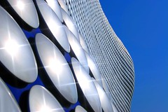 Silver and Blue (Heaven`s Gate (John)) Tags: blue england sun reflection art beautiful architecture silver birmingham circles dramatic selfridges architects discs starburst futuresystems silverandblue bluelist johndalkin heavensgatejohn abigfave