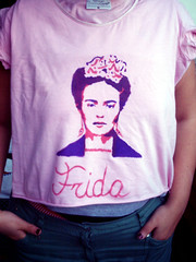 Frida ([druz]) Tags: art diy stencil tshirt frida druz