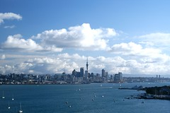 Auckland (pusspaw) Tags: city sea newzealand sky clouds buildings view harbour auckland byme northhead top20clouds top20flickrskylines 3waychallenge 3waycityscape pusspaw pusspaw
